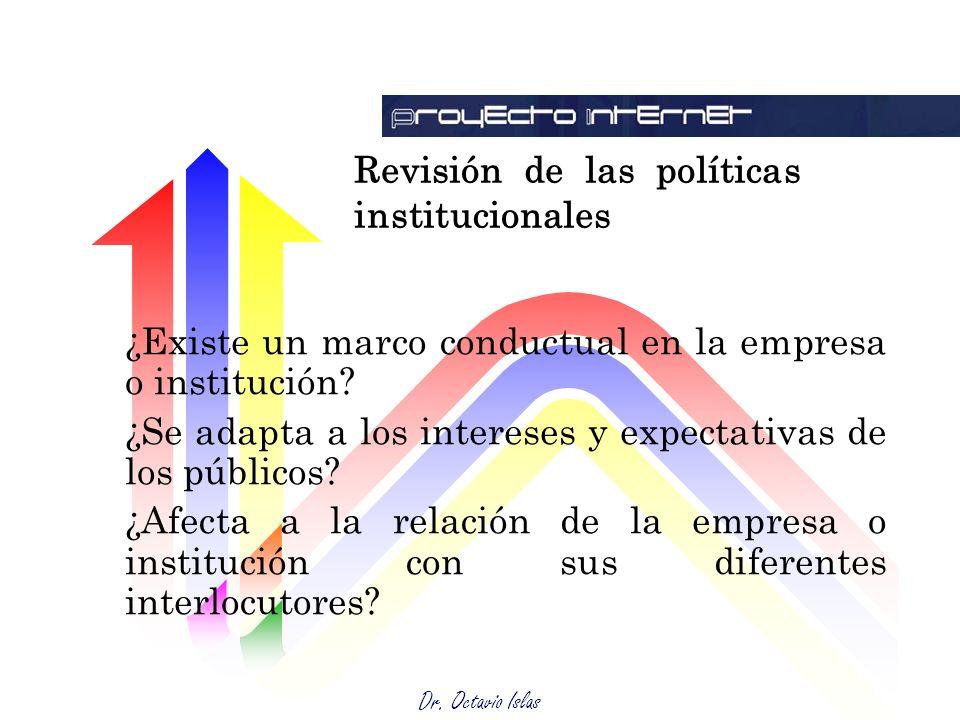 Revisión de las políticas institucionales