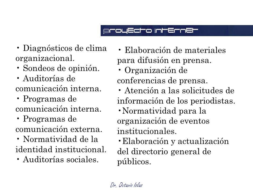 Diagnósticos de clima organizacional.