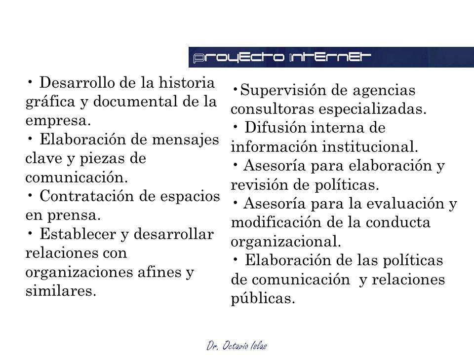 Desarrollo de la historia gráfica y documental de la empresa.