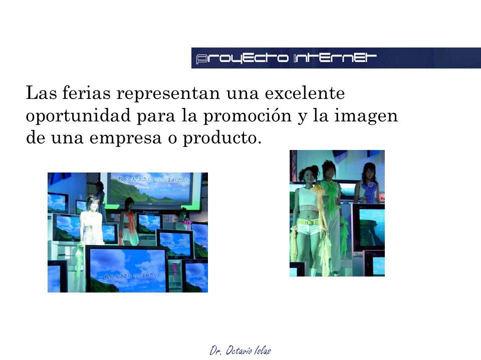 Las ferias representan una excelente oportunidad para la promoción y la imagen de una empresa o producto.