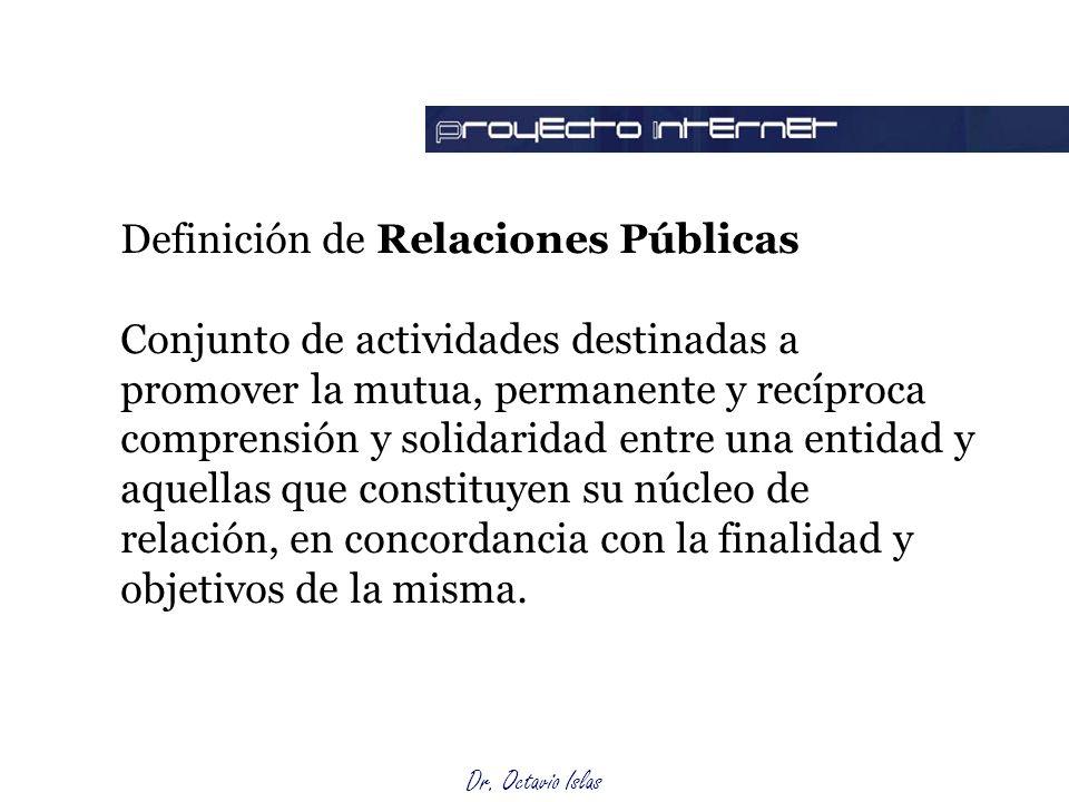 Función de las RP Definición de Relaciones Públicas