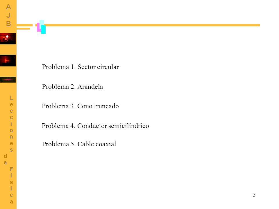 Problema 1. Sector circular