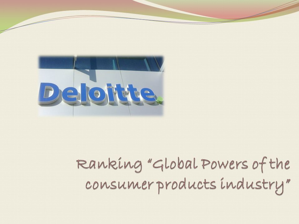 Ranking Global Powers of the consumer products industry