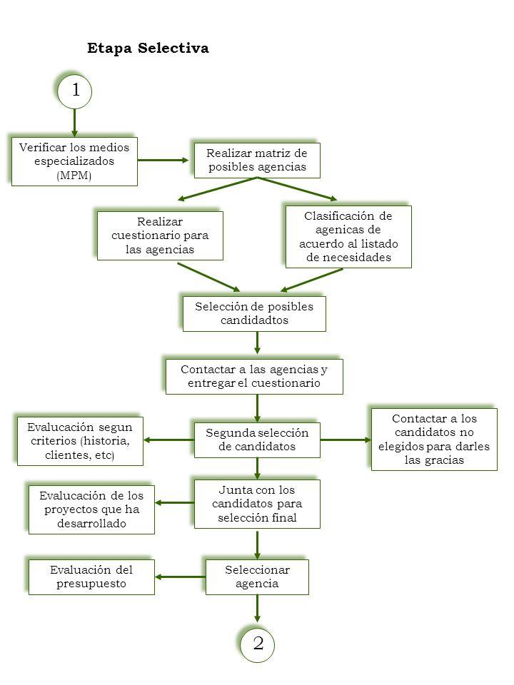 1 2 Etapa Selectiva Verificar los medios especializados (MPM)