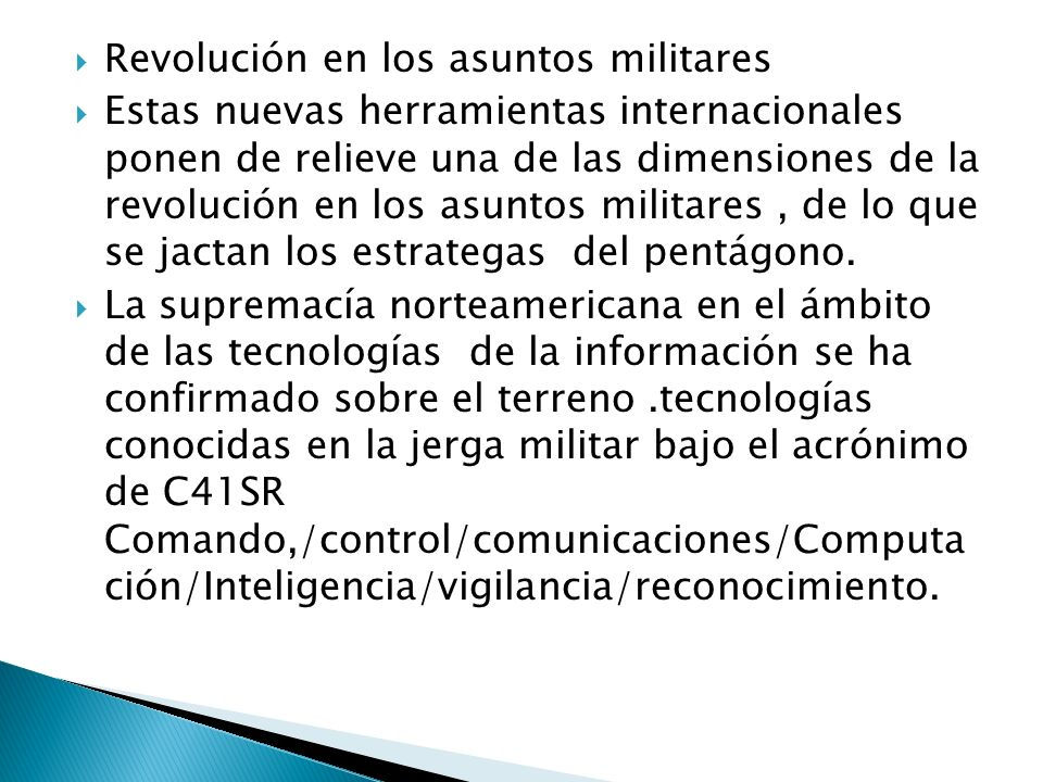 Revolución en los asuntos militares