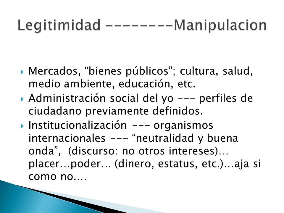 Legitimidad --------Manipulacion