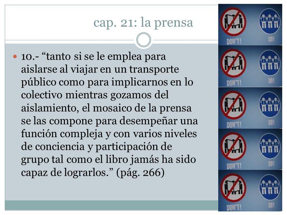 cap. 21: la prensa