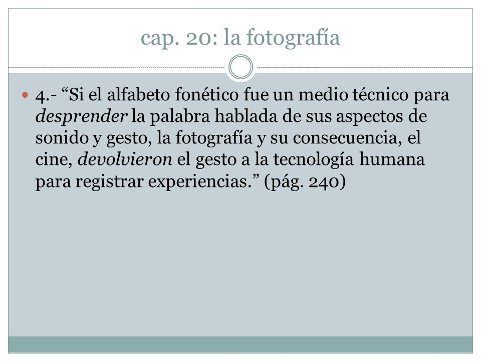 cap. 20: la fotografía