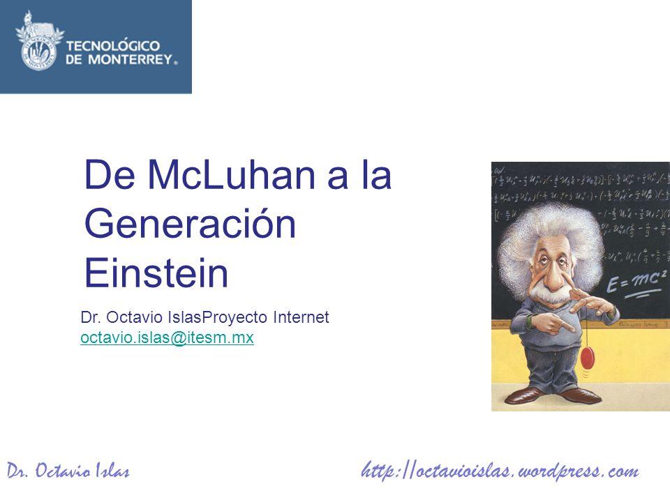 De McLuhan a la Generación Einstein