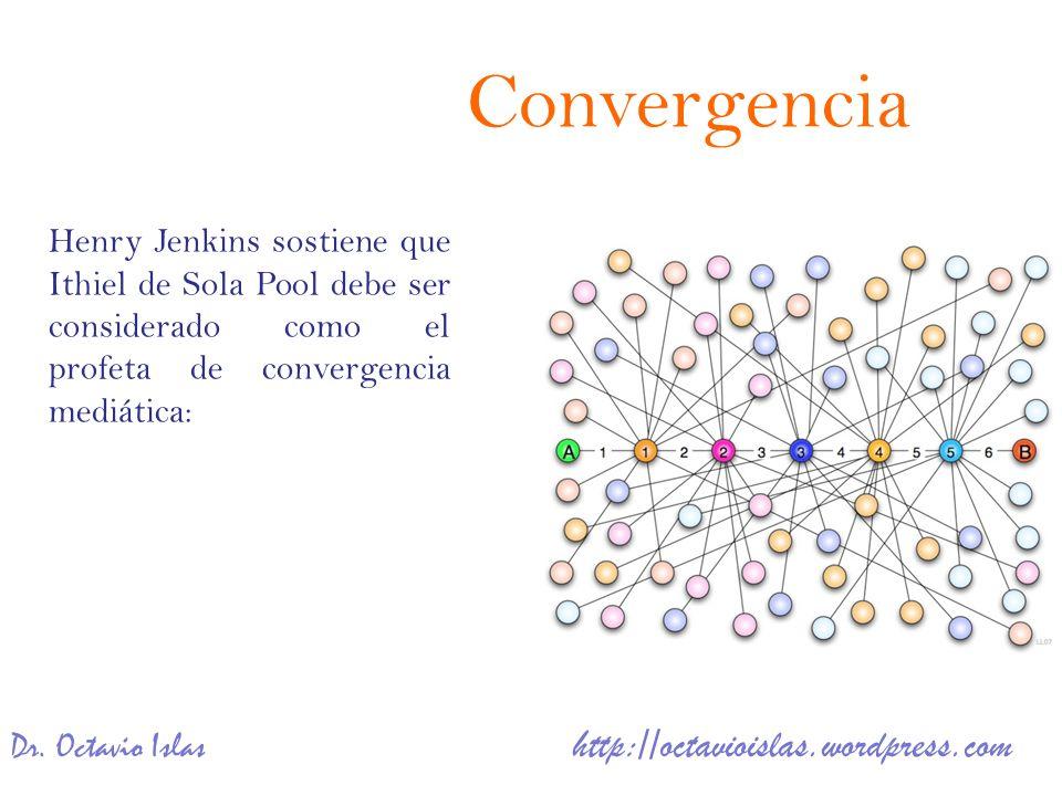 Convergencia Henry Jenkins sostiene que Ithiel de Sola Pool debe ser considerado como el profeta de convergencia mediática: