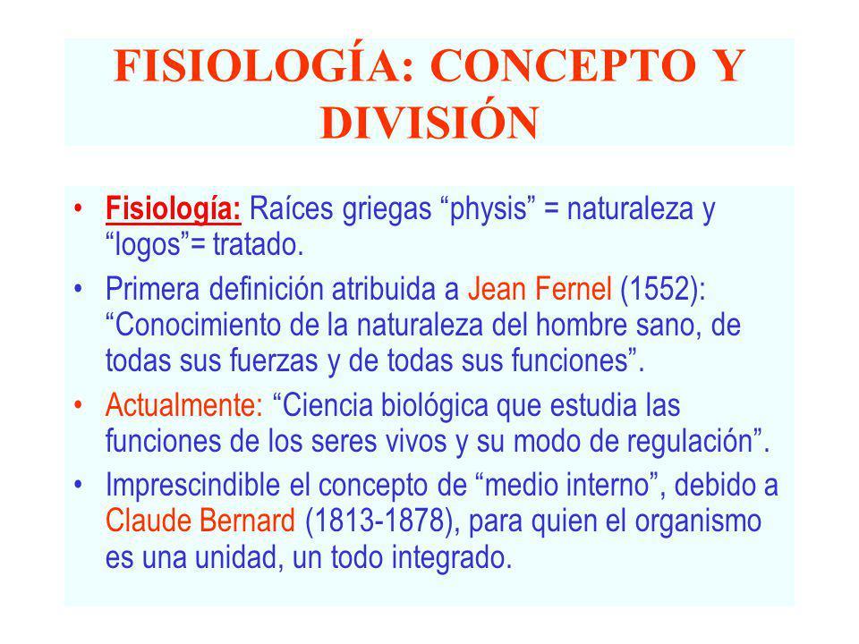 FISIOLOGÍA: CONCEPTO Y DIVISIÓN - ppt video online descargar