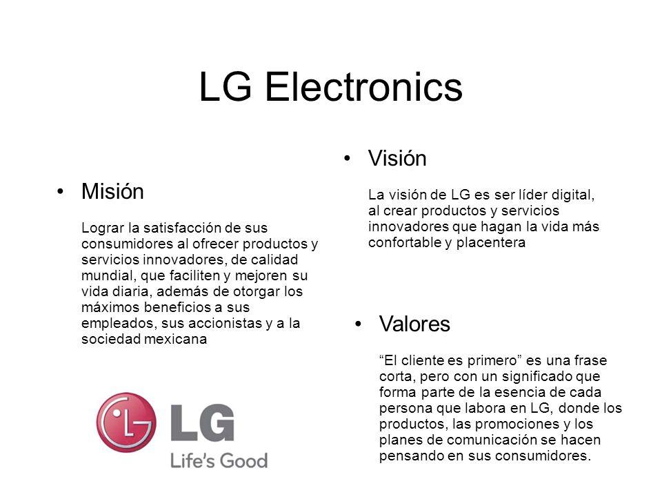 LG Electronics Visión Misión Valores