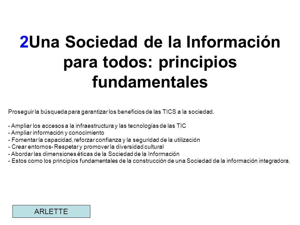 2Una Sociedad de la Información para todos: principios fundamentales