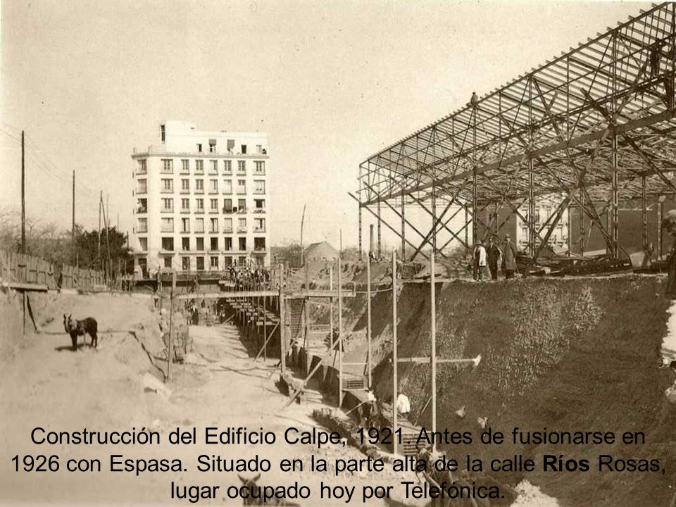 Construcción del Edificio Calpe, 1921