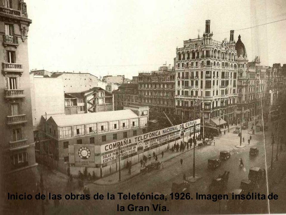 Inicio de las obras de la Telefónica, 1926