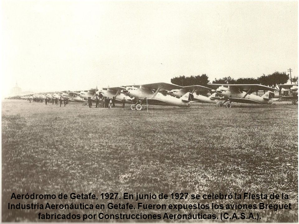 Aeródromo de Getafe, 1927.