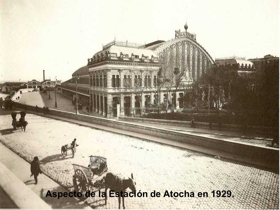 Aspecto de la Estación de Atocha en 1929.