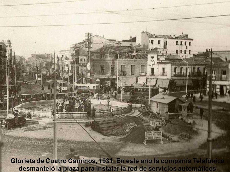 Glorieta de Cuatro Caminos, 1931