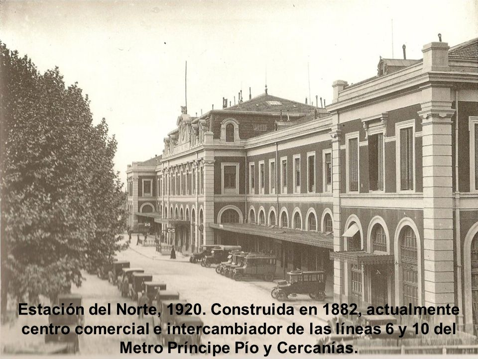 Estación del Norte, 1920.