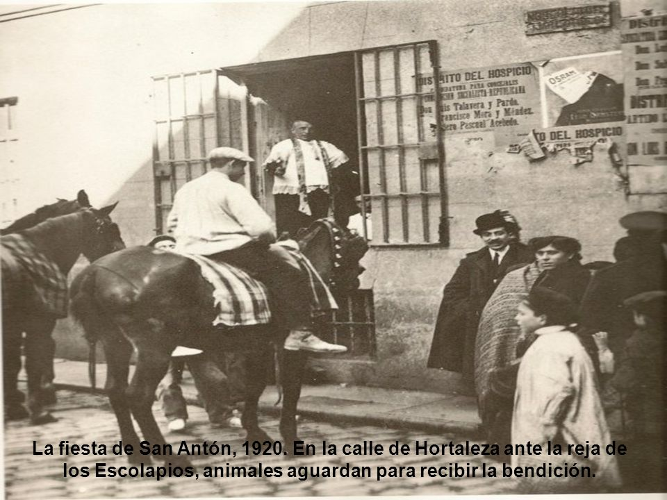 La fiesta de San Antón, 1920.