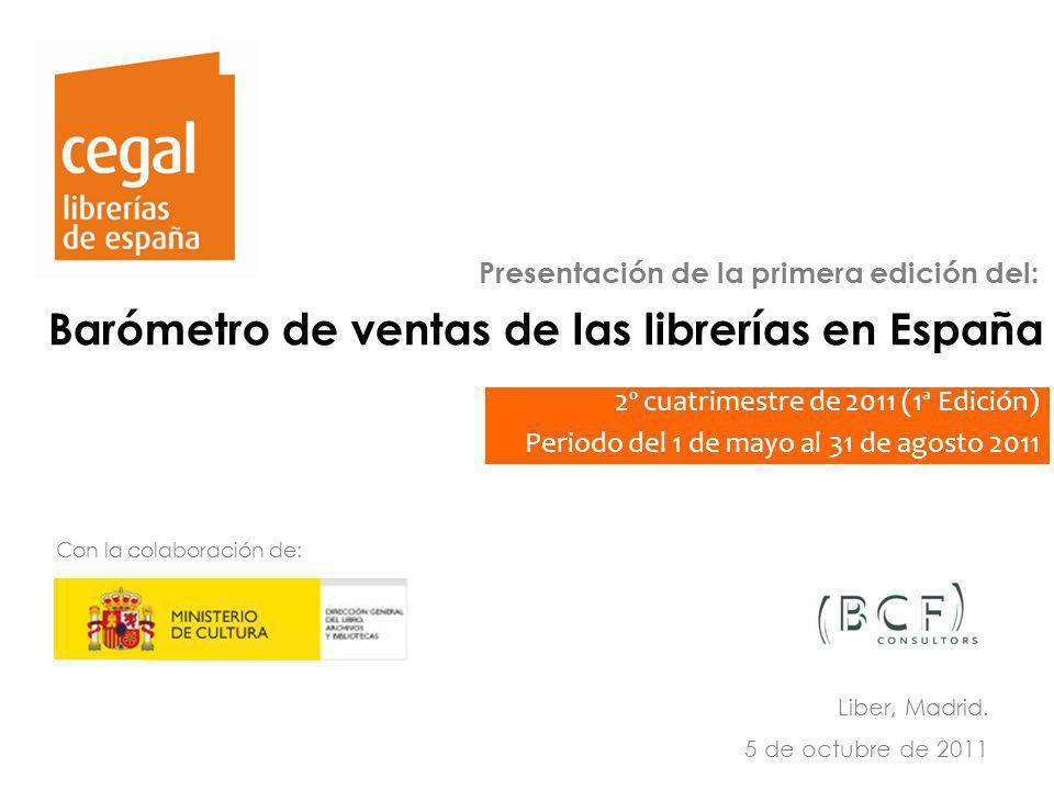 Barómetro de ventas de las librerías en España