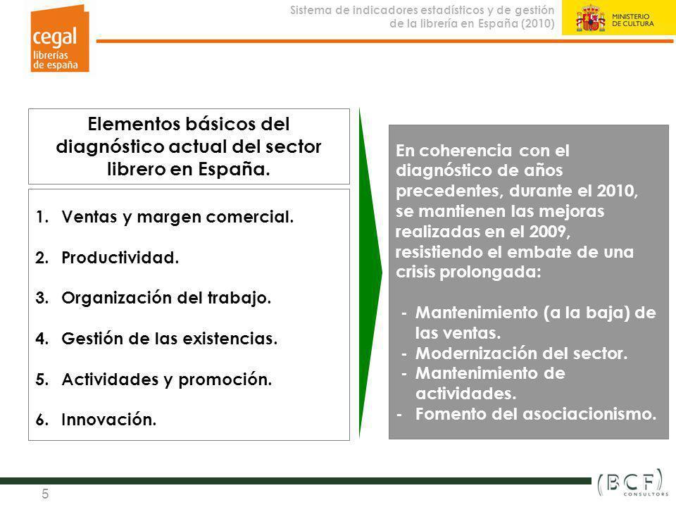 Elementos básicos del diagnóstico actual del sector librero en España.