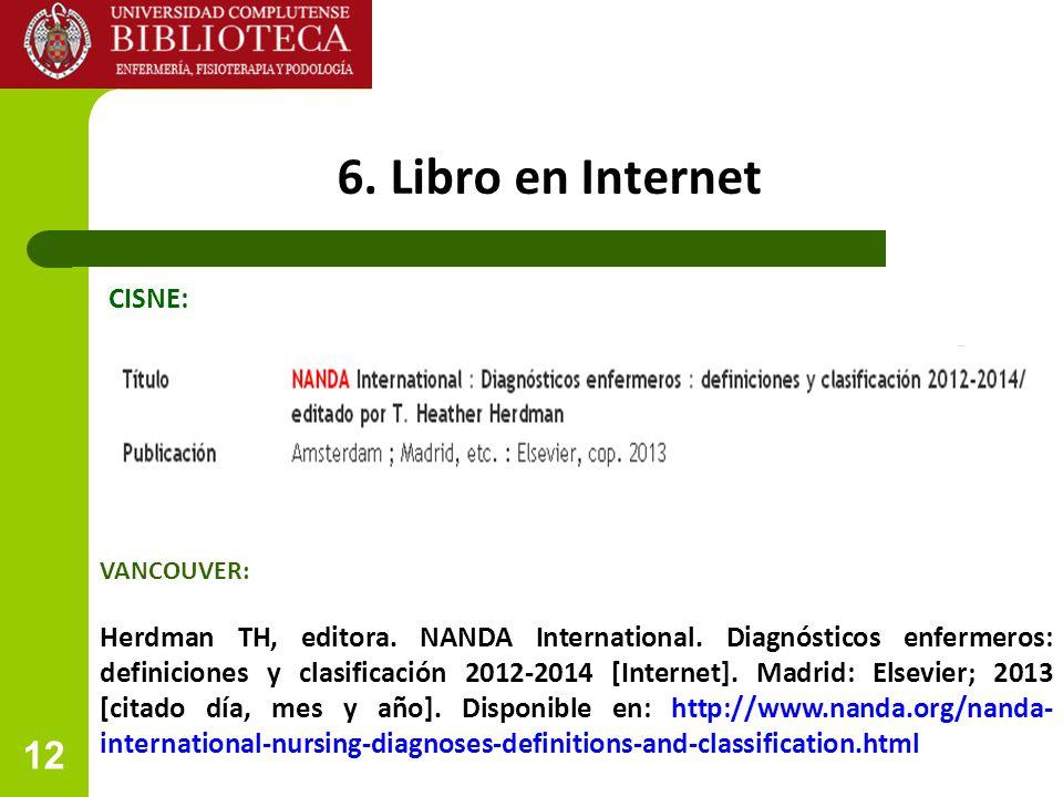 6. Libro en Internet CISNE:
