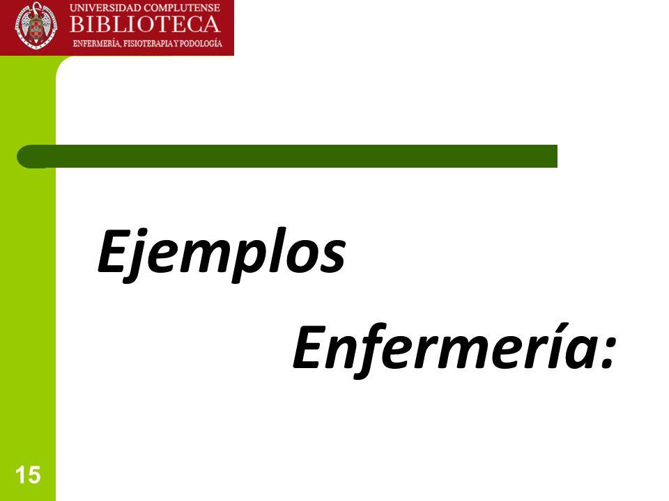 Ejemplos Enfermería: