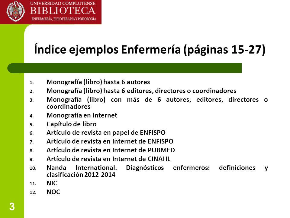 Índice ejemplos Enfermería (páginas 15-27)