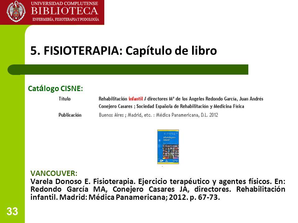 5. FISIOTERAPIA: Capítulo de libro