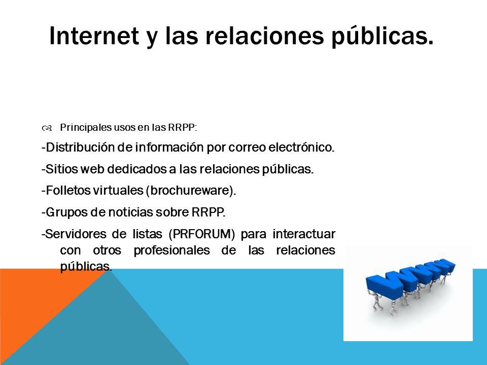 Internet y las relaciones públicas.
