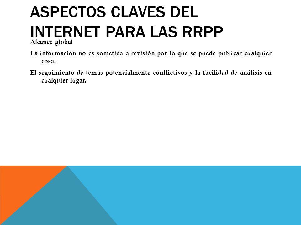 Aspectos claves del Internet para las RRPP
