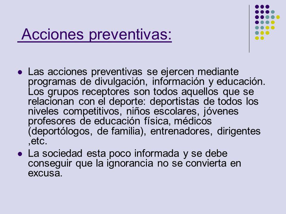 Acciones preventivas: