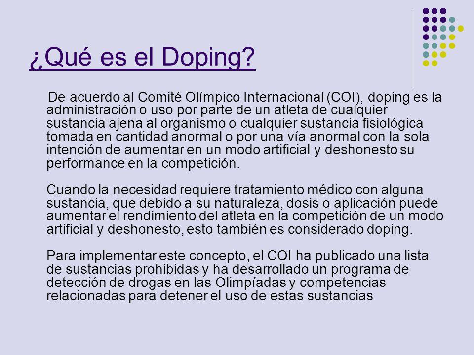 ¿Qué es el Doping
