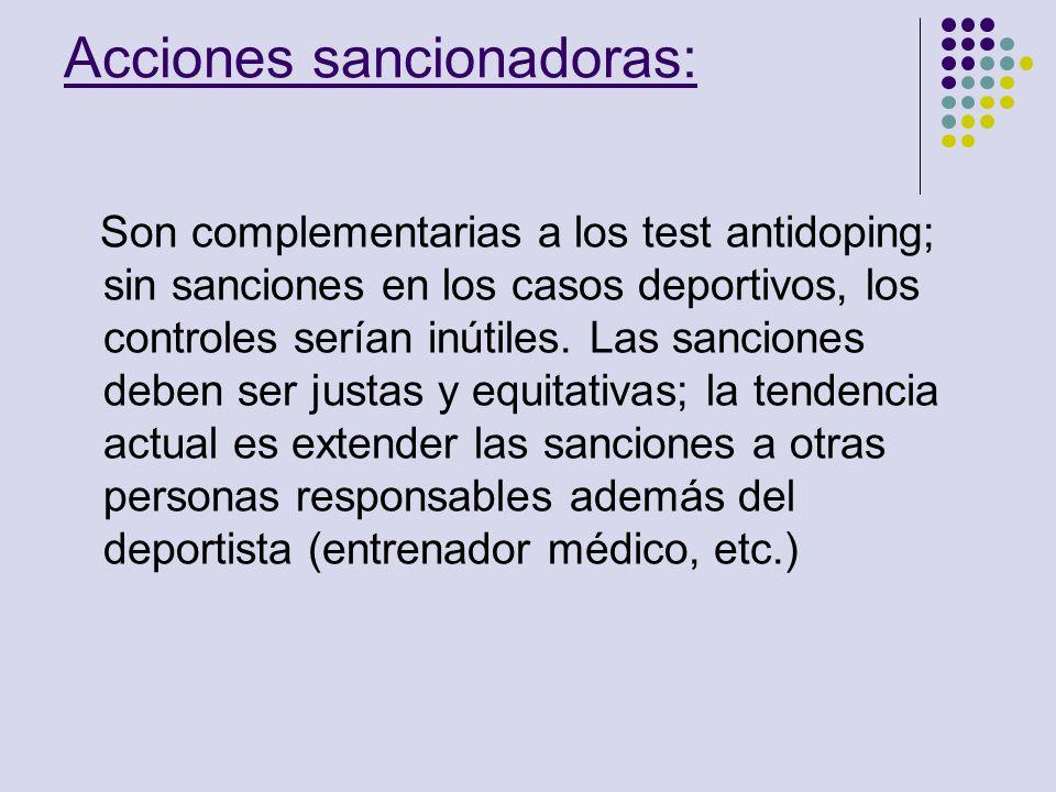 Acciones sancionadoras: