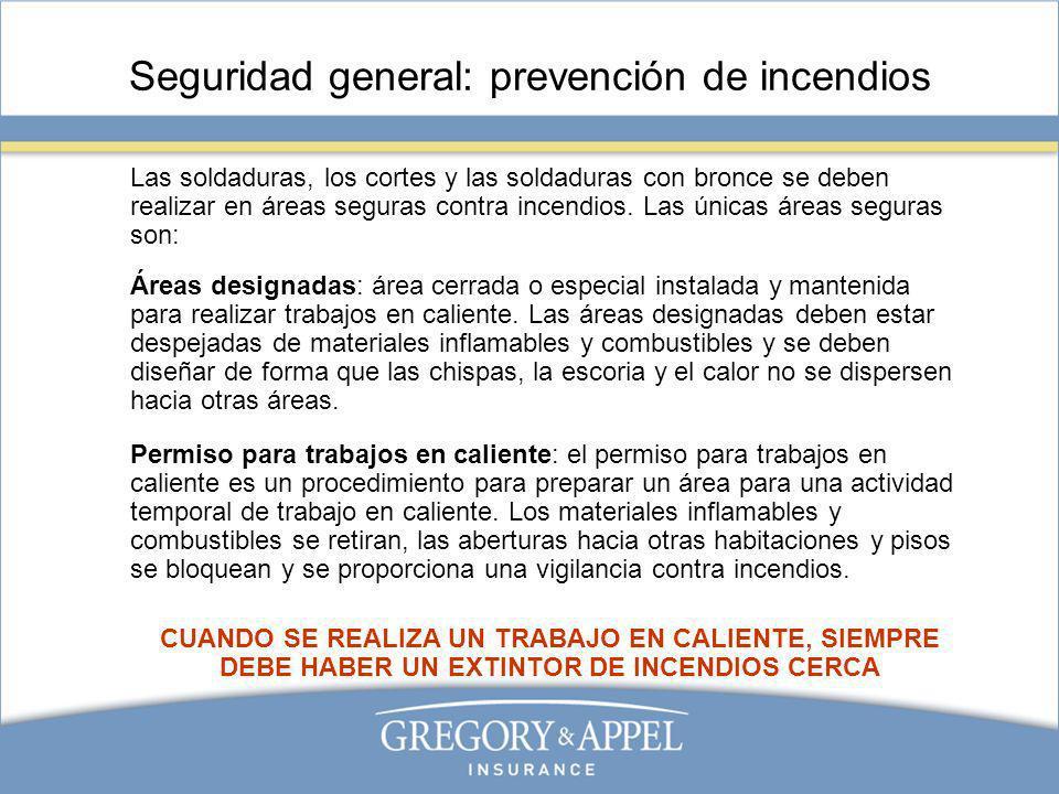 Seguridad general: prevención de incendios