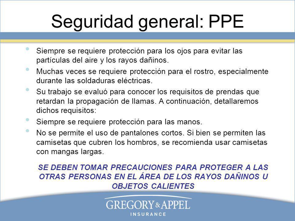 Seguridad general: PPE