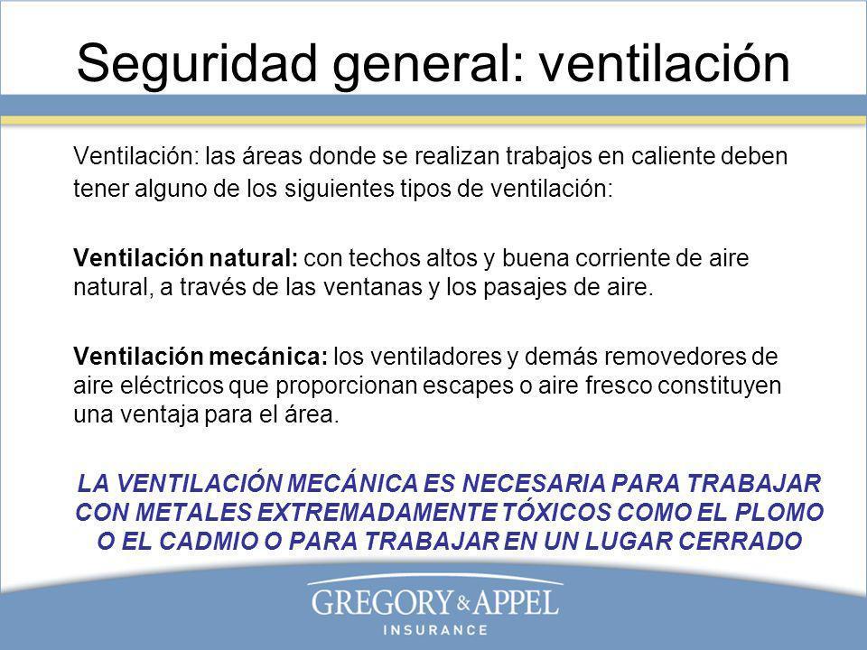 Seguridad general: ventilación