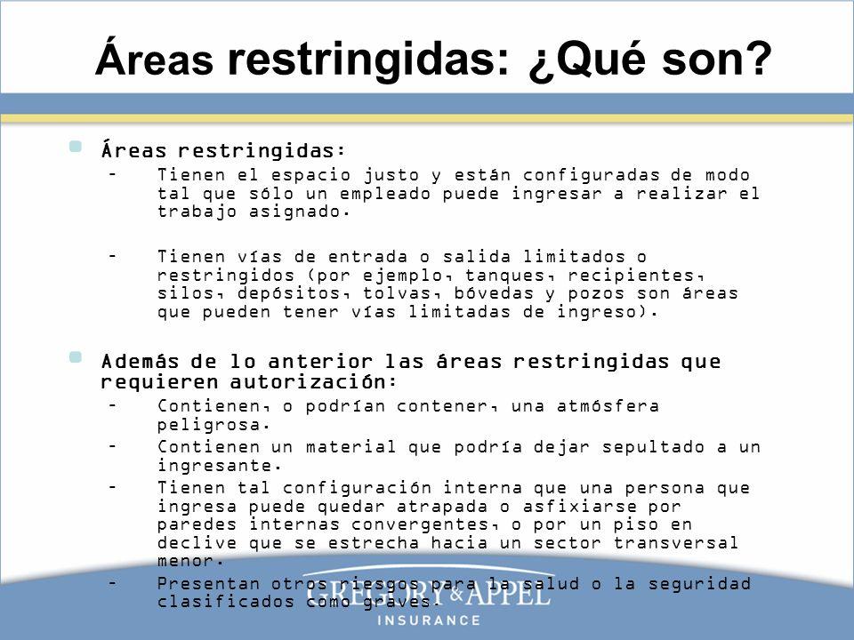 Áreas restringidas: ¿Qué son