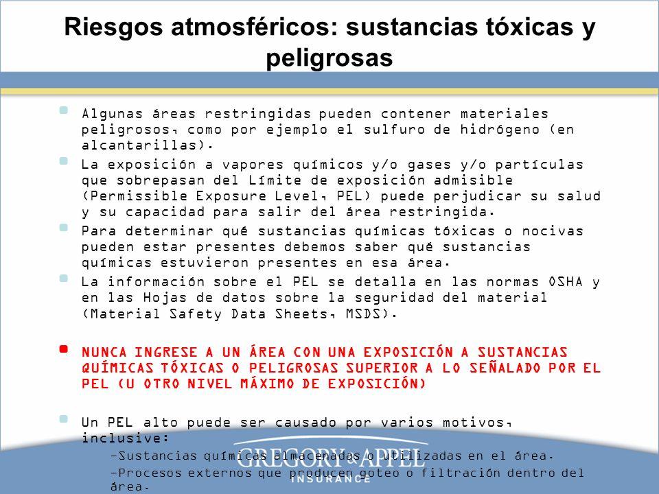 Riesgos atmosféricos: sustancias tóxicas y peligrosas