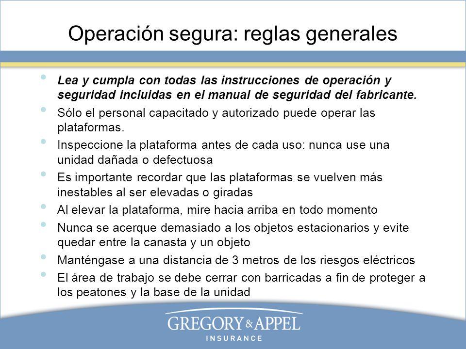 Operación segura: reglas generales
