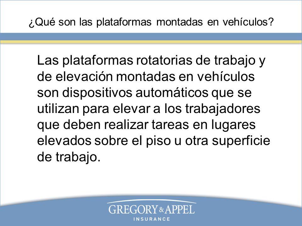 ¿Qué son las plataformas montadas en vehículos