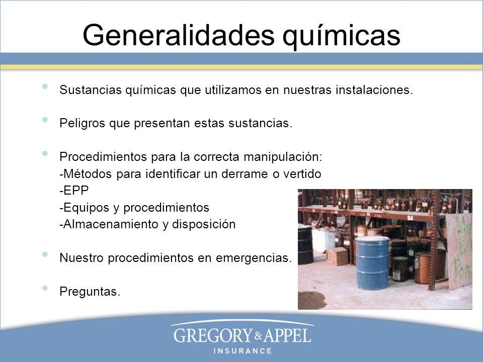 Generalidades químicas
