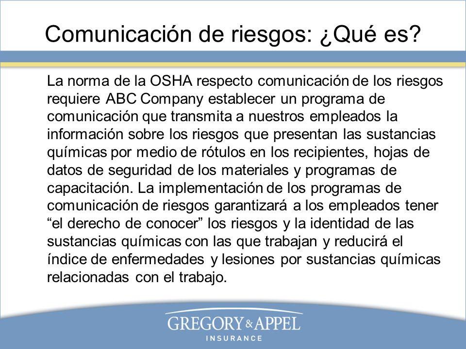 Comunicación de riesgos: ¿Qué es