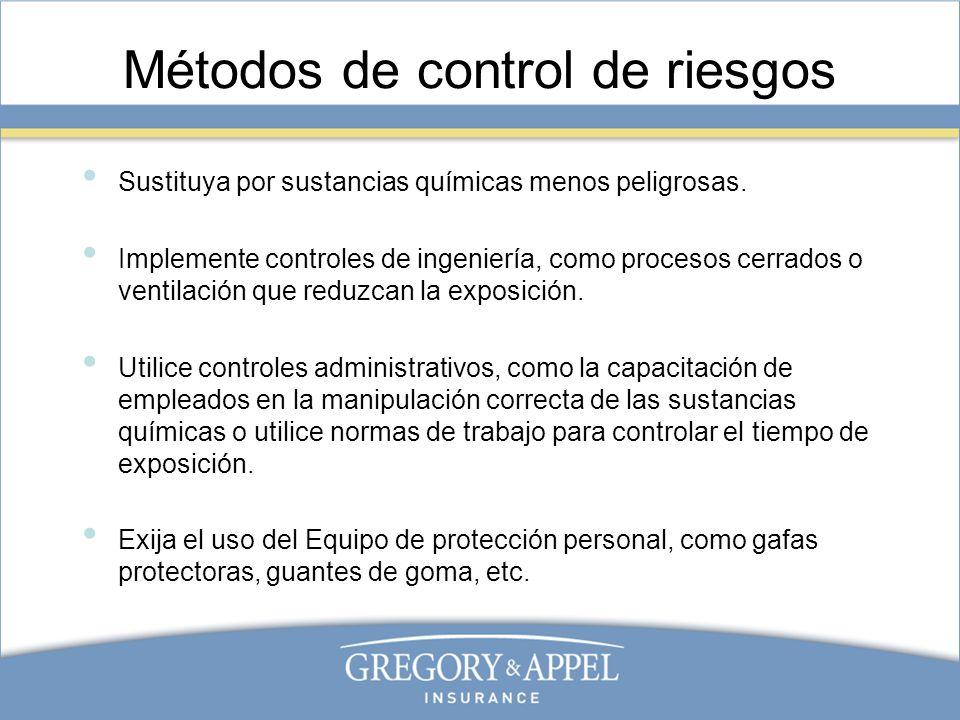 Métodos de control de riesgos