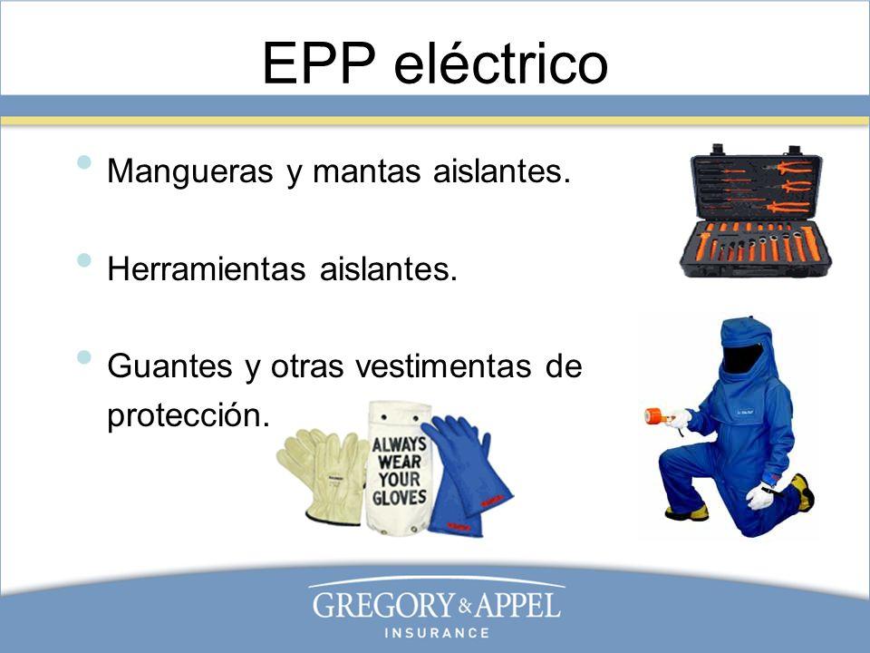 EPP eléctrico Mangueras y mantas aislantes. Herramientas aislantes.
