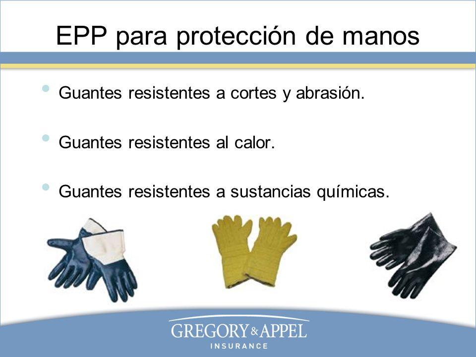 EPP para protección de manos
