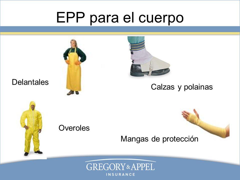 EPP para el cuerpo Delantales Calzas y polainas Overoles