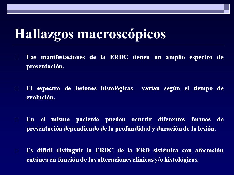 Hallazgos macroscópicos