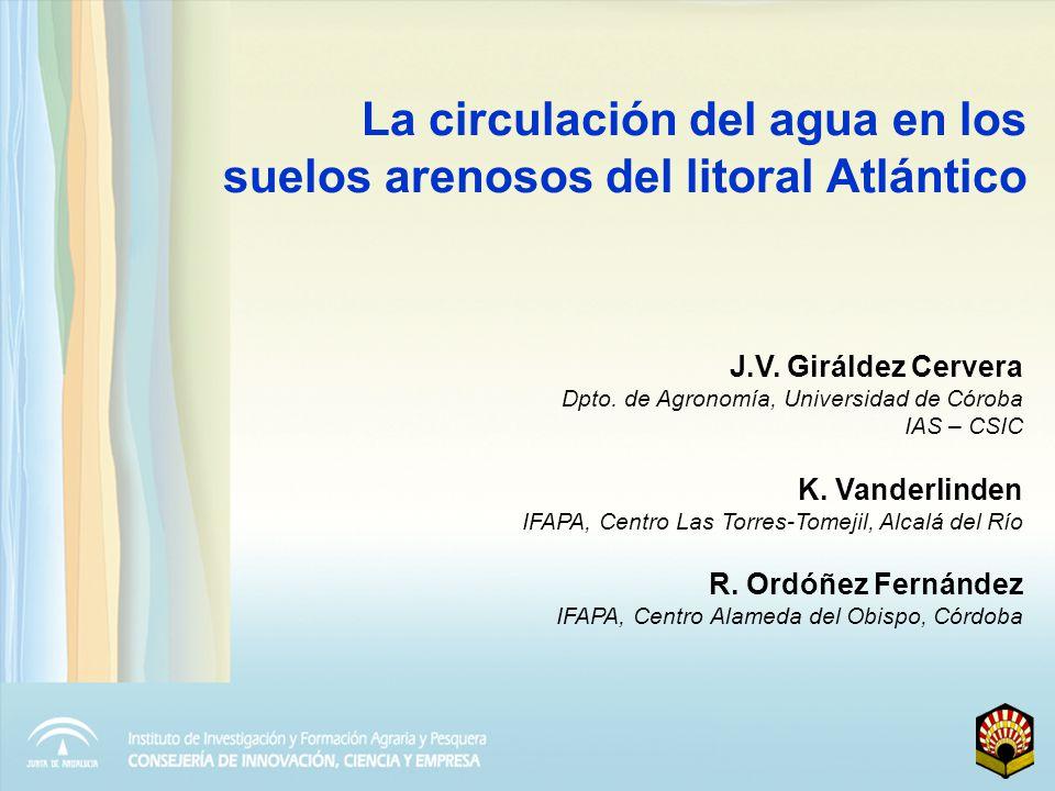 La circulación del agua en los suelos arenosos del litoral Atlántico
